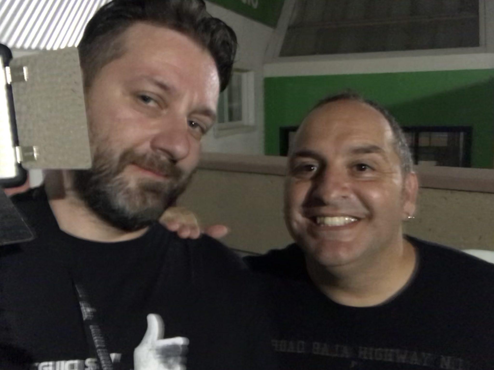 "Chris Fx con Gianluca ""Scintilla"" Fubelli"