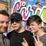 Chris Fx con Marco Leonardi e Alberico De Giglio
